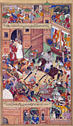 Tolerance Posters - Attempt On The Life Of Akbar The Great Poster by Photo Researchers