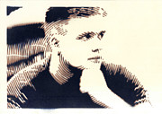 Young Man Metal Prints - Attention Metal Print by Mon Graffito