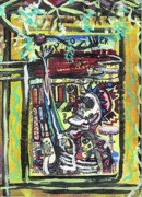 Outsider Art Mixed Media - Attic Window by Robert Wolverton Jr