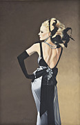 Evening Dress Painting Originals - Attitude by Judy  Hilton