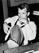 Gestures Photo Prints - Attorney General Robert F. Kennedy Print by Everett