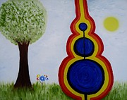 Great Outdoors Paintings - Attune - To bring into harmony. by Cory Green