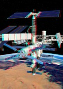 Boost Posters - Atv Boosting The Iss, Stereo Image Poster by David Ducros
