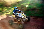 Quad Posters - ATV off-road racing Poster by Gaspar Avila