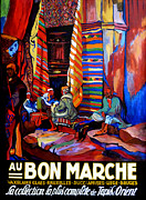 Rugs Prints - Au Bon Marche Print by Tom Roderick