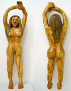 Olive Wood Sculpture - Au Naturelle  Olive wood sculpture by Eric Kempson