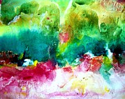 Fantasy Landscape Mixed Media - Au Pay Fantastique by Silvia Williams