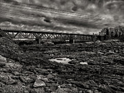 Lewiston Prints - Auburn Lewiston Railway Bridge Print by Bob Orsillo
