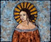 Christian Art . Devotional Art Painting Prints - Auburn Print by Rain Ririn