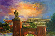 Sports Art Paintings - Auburn Skies by Ann Marshall Bailey