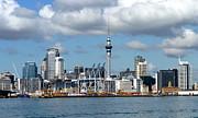 Auckland Skyline Print by Carla Parris