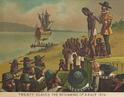 African Americans Prints - Auctioning Of Newly Arrived African Print by Everett