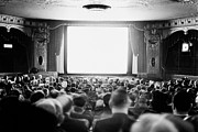 Blank And White Framed Prints - Audience In Movie Theater, 1935 Framed Print by Archive Holdings Inc.