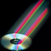 Laser Beam Prints - Audio Compact Disc Print by Pasieka