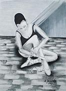 Dance Shoes Drawings Prints - Audition Print by Agnieszka Jezierska-Drutel