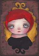 Big Eyed Art Framed Prints - Audrey Framed Print by  Abril Andrade Griffith