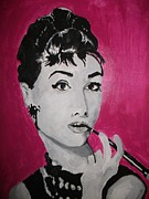 Audrey Hepburn Painting Originals - Audrey by Ashley Henry