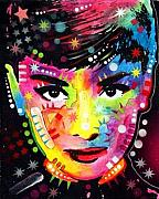 Hollywood Mixed Media - Audrey Hepburn by Dean Russo