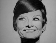 Audrey Drawings Posters - Audrey Hepburn Drawing Poster by Keeyonardo
