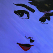 Bill Manson Paintings - Audrey Hepburn-Eyes for You by Bill Manson