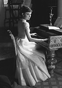 Grand Piano Framed Prints - Audrey Hepburn Framed Print by George Daniell and Photo Researchers