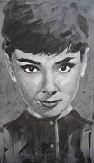 Audrey Hepburn Painting Originals - Audrey Hepburn by Jimmy Law
