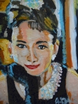 Movie Art Paintings - Audrey Hepburn  by Jon Baldwin  Art