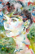 Image  Paintings - Audrey Hepburn Portrait.4 by Fabrizio Cassetta