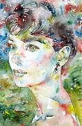 Audrey Hepburn Portrait.4 Print by Fabrizio Cassetta