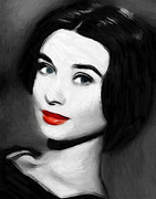Red Lips Pastels Prints - Audreys Lips Print by Stefan Kuhn