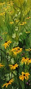 Black Eye Susan Paintings - August Afternoon by Pam Newcomb