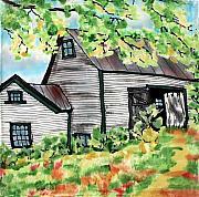 August Barn Print by Linda Marcille