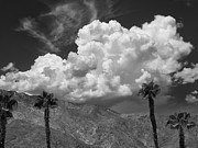 Grey Clouds Framed Prints - AUGUST CLOUDS Palm Springs Framed Print by William Dey