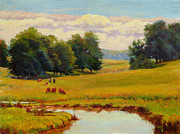 Clearing Painting Originals - August Pastoral by Keith Burgess