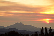 Longs Peak Photos - August Sunset by James Bo Insogna