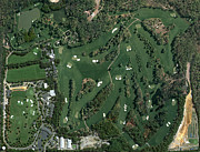 Augusta National Golf Framed Prints - Augusta National Aerial Masters Photo H Framed Print by Phil Reich