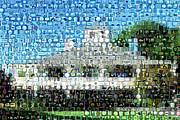 Augusta National Clubhouse Mosaic Print by Paul Van Scott