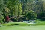 Golden Photo Prints - Augusta National Golf Club Hole 12 Golden Bell Print by Phil Reich