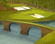 Golf Pastels - Augusta-The 12th Hole by Linda Bennett