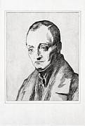 Comte Framed Prints - Auguste Comte, French Philosopher Framed Print by Humanities & Social Sciences Librarynew York Public Library