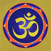 Sacred-symbol Paintings - Aum       by Piitaa - Sacred Art