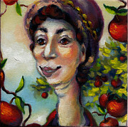 Fruit Tree Art Originals - Aunt Berta by Mary J Russell
