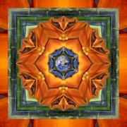 Circle Mandalas Framed Prints - Aura Bamboo Framed Print by Bell And Todd
