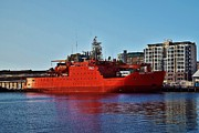 Research Photo Originals - Aurora Australis - The Research Vessel by David Barringhaus
