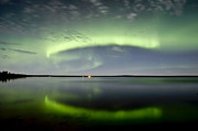 Polar Aurora Prints - Aurora Borealis And The Leonids Print by Zoltan Kenwell