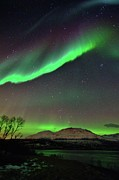 Low Angle View Prints - Aurora Borealis Print by John Hemmingsen