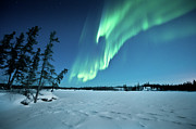 Illuminated Framed Prints - Aurora Borealis Framed Print by Michael Ericsson