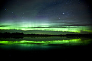 Alberta Prints - Aurora Borealis Near The Village Print by Zoltan Kenwell
