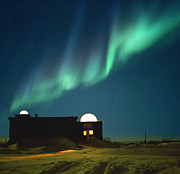 Observation Posters - Aurora Borealis Over Observation Domes In Canada Poster by Chris Madeley