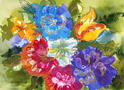 Colorful Paintings - Aurora Flora by Kimberlee Weisker